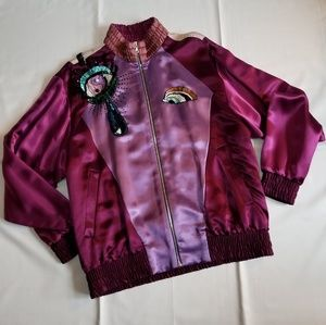 Marc Jacobs SS17 Satin Applique Bomber Jacket